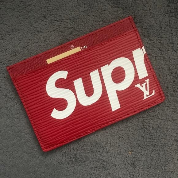 15e2ff7a6bb4e ... Supreme x LV Card Holder . ...